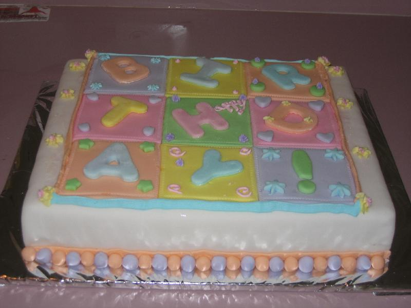 fondant quilt cakes
